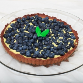 Keto Lemon Blueberry Tart