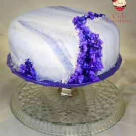 Gluten and Dairy Free Geode Cake