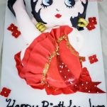 Betty Boop Sheet Cake for 70 people!